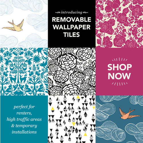 Removable Wallpaper Tiles introducing: removable wallpaper tiles! | hygge & west